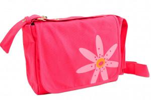 0310742439 | Bible Cover Messenger Bag Faithgirlz! Medium Pink Flower
