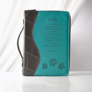 6006937092945 | Bible Cover Trendy Luxleather Hope Medium Blue