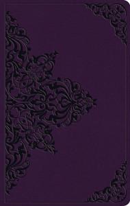 1433566842   ESV Large Print Value Thinline Bible Lavender Filigree Design TruTone