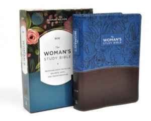 NIV Woman's Study Bible Full-Color Blue/Brown Leathersoft