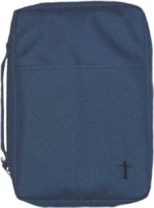 857872003369 | Canvas Bible Cover Navy Large Embroidered