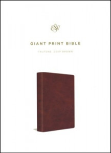 1433564580 | ESV Giant Print Bible Deep Brown TruTone