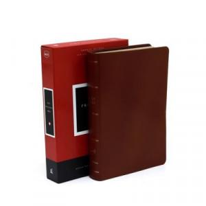 0785222669 | NKJV Comfort Print Preaching Bible Premium Calfskin Leather Brown