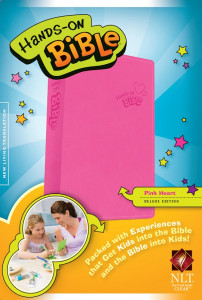 NLT Hands-On Bible Updated Edition Pink Heart LeatherLike