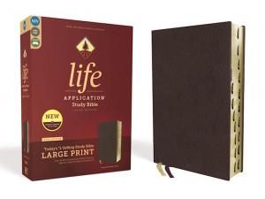 0310452872   NIV Life Application Study Bible  Large Print Bonded Leather Burgundy Indexed