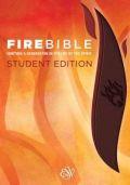1619706903 | ESV Fire Bible Student ESV Fire Bible Student Edition Brass Brown Chestnut Flexisoft